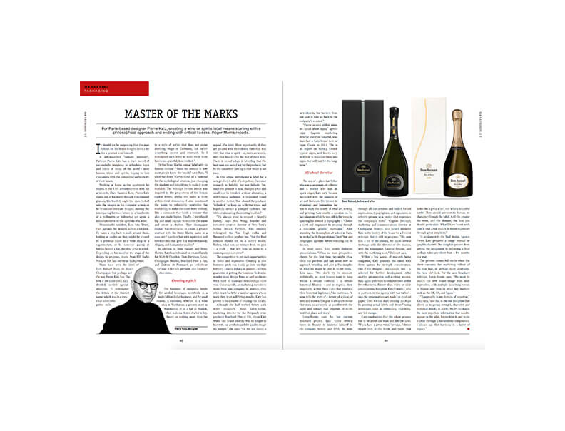 Master of the marks : Pierre Katz in Wine Business International
