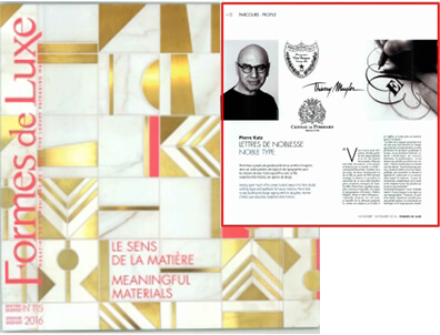 Letters of nobility: Pierre Katz in luxury forms